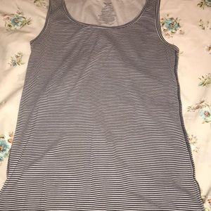 Faded glory tank top women's 2X blue and white
